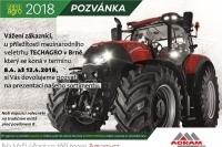 Navštivte stánek Agram.cz na veletrhu TECHAGRO 2018
